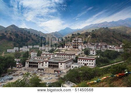 Lamaism Temple Under The Blue Sky