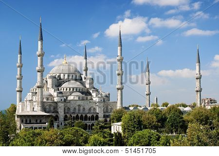 sultan ahmed mosque landmark exterior in istanbul turkey poster