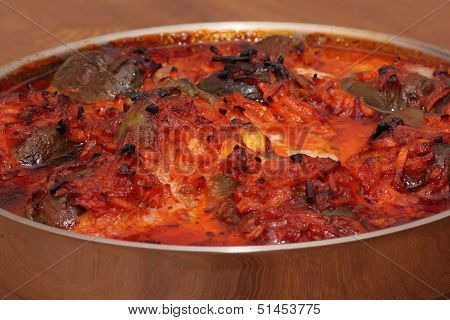 Stuffed Pepper With Vegetables In The Stewpot