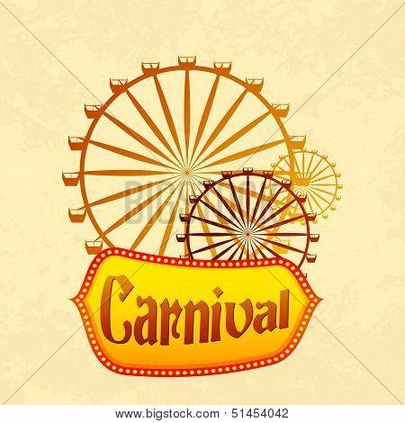 Giant wheel in Carnival
