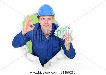 A hard-working tradesman earning an honest living