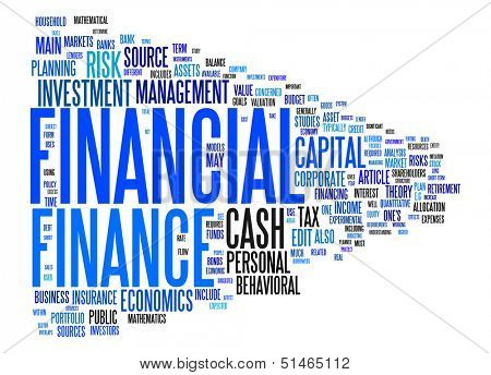 An image of a nice financial text cloud poster