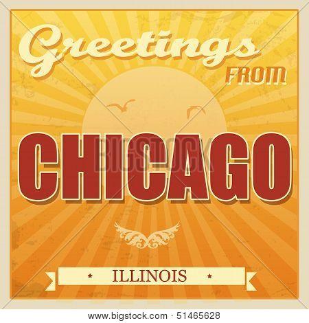 Vintage Chicago, Illinois Poster