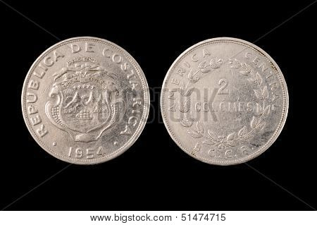 Isolated Coin From Costa Rica