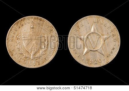 Silver Coin From Pre-Communist Cuba