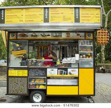 Wafels and Dinges cart in Central Park