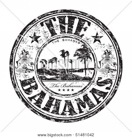 The Bahamas grunge rubber stamp