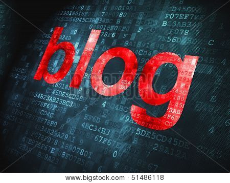 SEO web design concept: Blog on digital background