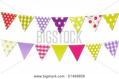Triangle Bunting Flags, Vector Illustration