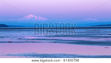 Mount Baker twilight