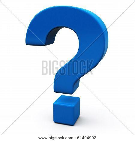 Question mark, 3d