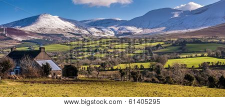 Galtee mountains in Ireland