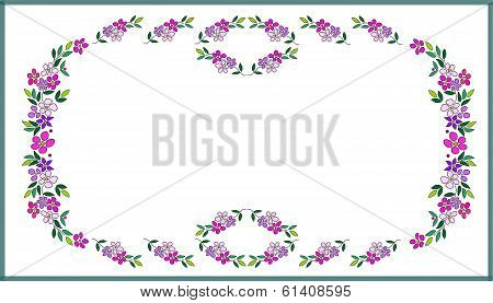 multicolor painted flowers as pattern