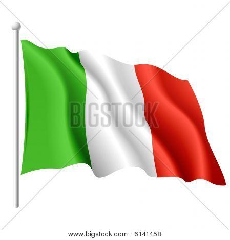 Flag of Italy. Vector illustration.