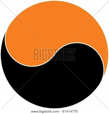 Um Yang in Orange & Black