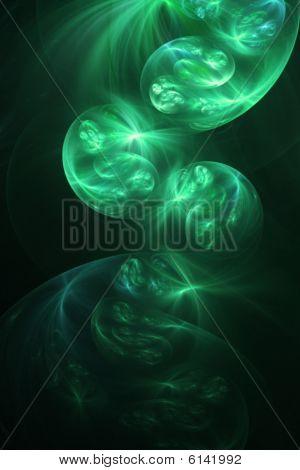 Magic Smoke, Green - Fractal Illustration