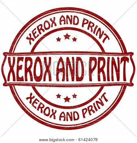 Xerox and print