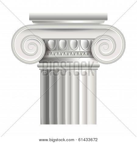 Roman Or Greek Column Vector Illustration