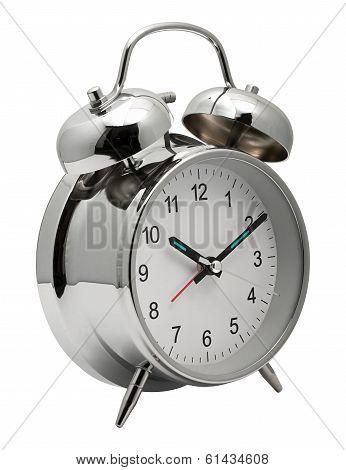 Chrome Shiny Alarm Clock