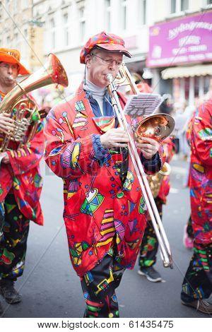 Musician In Carnival Parade