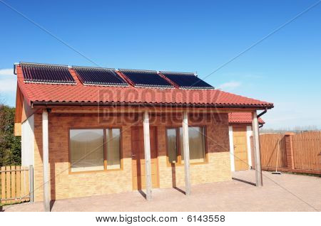 Bungalow with solar panels