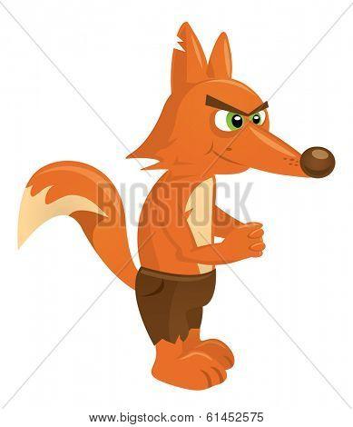 Cartoon fox illustration