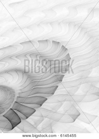 Smoke Ribbon Ripples - Monochrome - Fractal Illustration