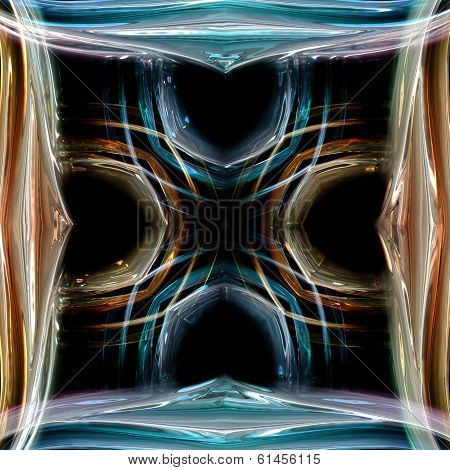Fantastic abstract illustrated wonderful glass background object poster