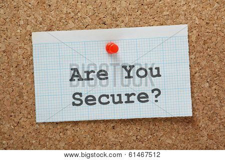 Are You Secure?