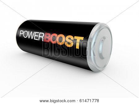 3d render concept of boosting energy levels