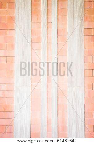 Brick And Wood Texture Of Wall