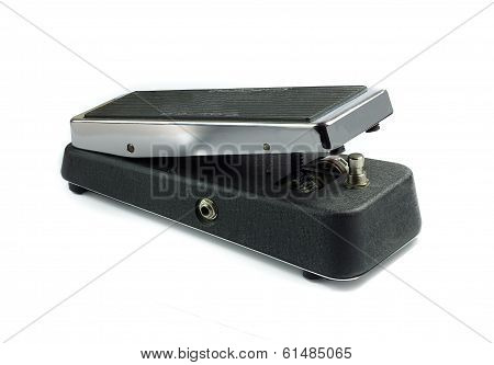 Wah Wah Pedal, Isolated On White
