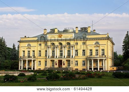 Main Building Of Russian Old Time Estate