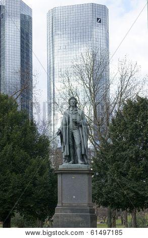Schiller monument Frankfurt