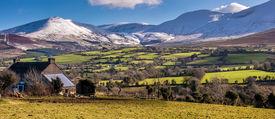 Galtee mountains in Ireland