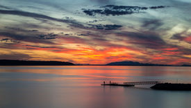 Willingdon Beach sunset in Powell River BC