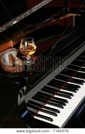 Piano With Cigar And Brandy