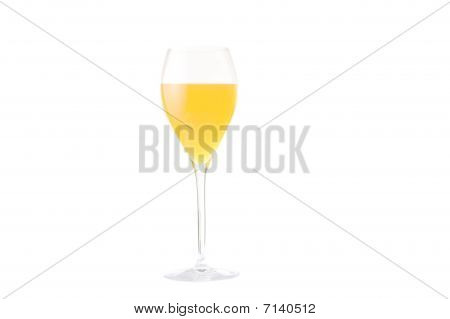 Yellow wineglass