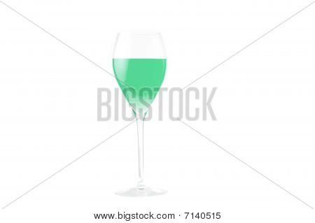 Green wineglass