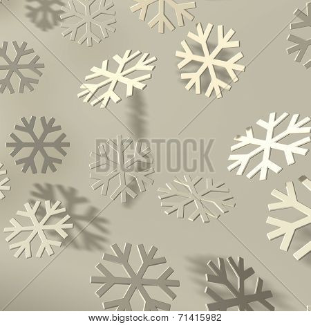 Snowflakes White On White
