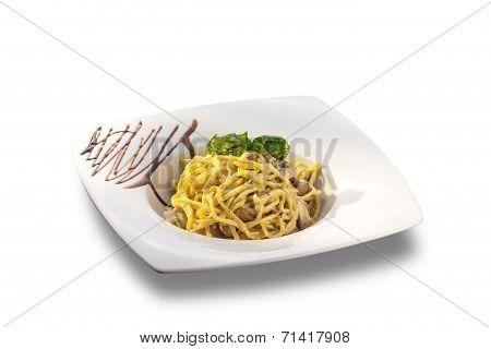 Delicious Spaghetti With Bacon And Cream Sauce