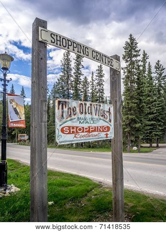 Old West Shopping Mall sign