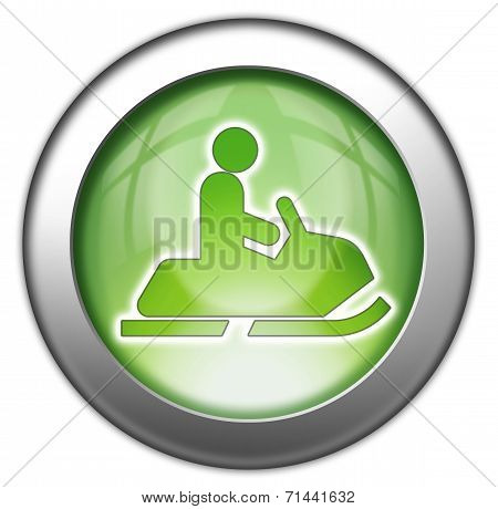 Icon Button Pictogram Image Graphic with Snowmobiles symbol poster