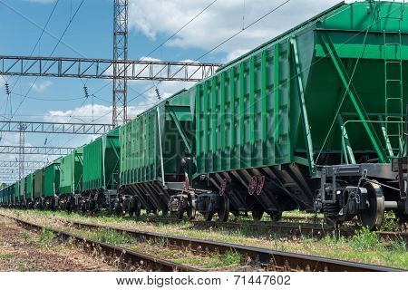 railroad car for dry cargo poster