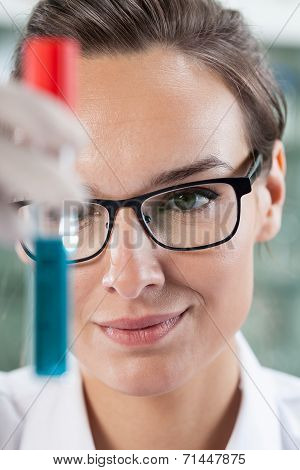 Scientist Analyzing Test Tube