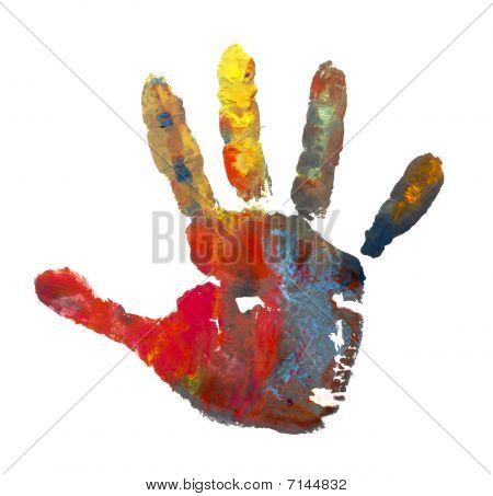 Color Painted Hand Mark 1