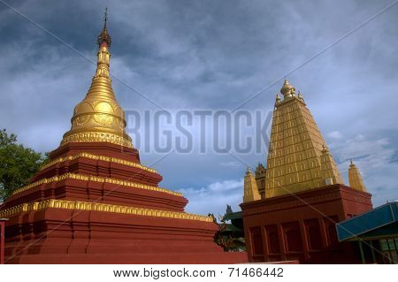 Pagoda on U Min Thonze,Sagaing Hill,Myanmar.