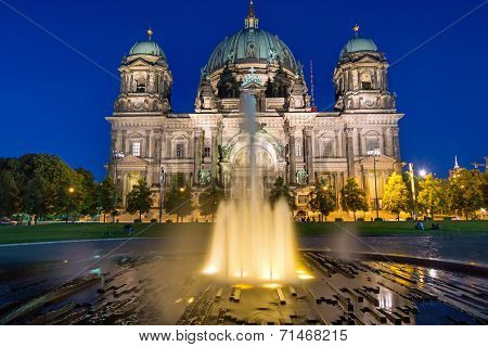 Berlin Dom and a fountain
