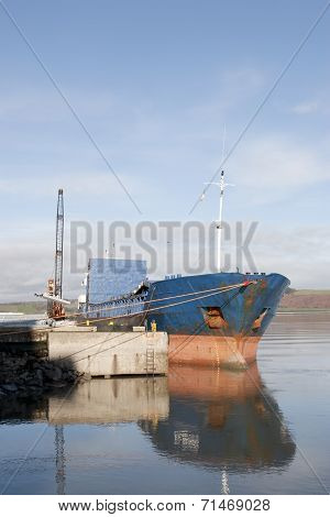 Boat Being Loaded With Steel