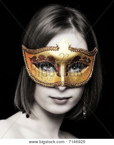 Young Women Wearing A Mask